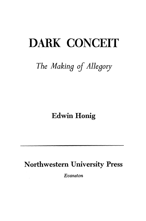 Cover of Dark Conceit