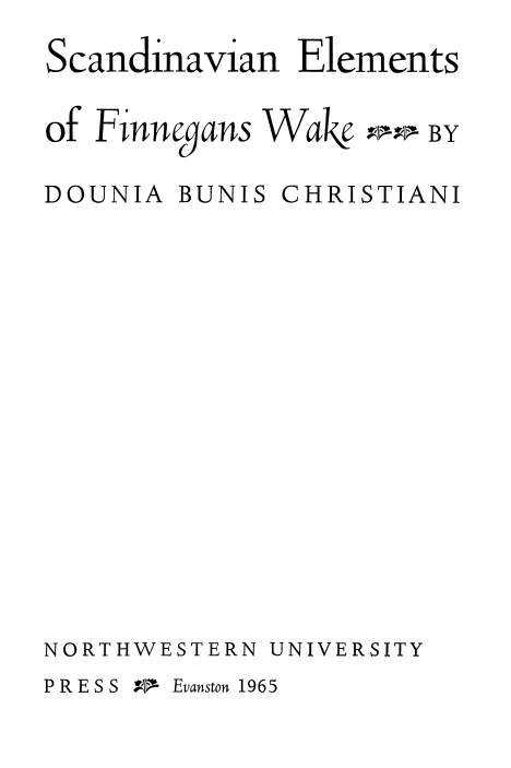 Cover of Scandinavian Elements of Finnegan's Wake
