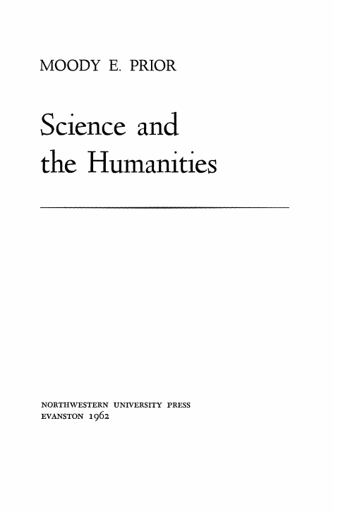Cover of Science and the Humanities